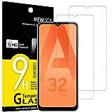 NEW'C 2 Unidades, Protector de Pantalla para Samsung Galaxy A32 5G, Antiarañazos, Antihuellas, Sin Burbujas, Dureza 9H, 0.33 mm Ultra Transparente, Vidrio Templado Ultra Resistente