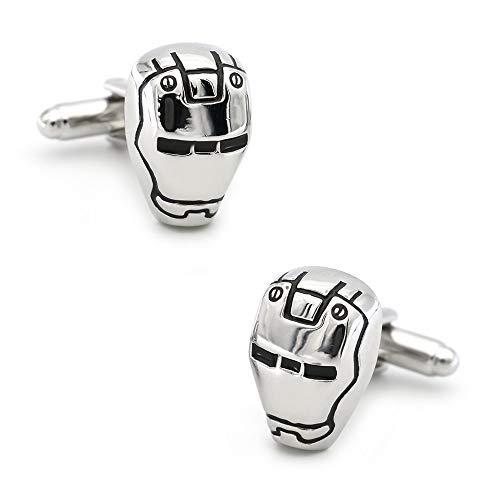SHAOWU Design Iron Man Manschettenknöpfe Für Männer Qualität Kupfer Material 2 Farben Option Manschettenknöpfe Silberfarbe