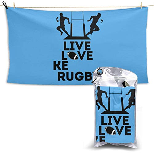 RTRTRT Toalla de baño de Secado rápido, Toallas de Playa Suaves y absorbentes, Love Kenyan Rugby para Acampar, IR de mochilero, Gimnasio, Viajar, Nadar, Yoga 28.7 'X 51'
