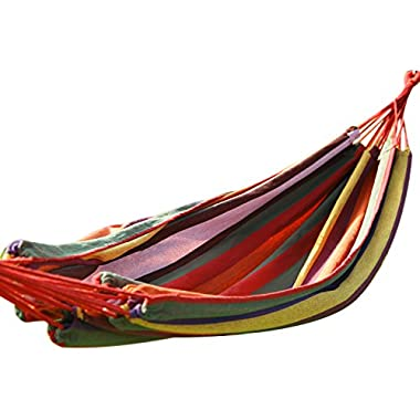 Joveco Antigua Color Cotton Fabric Canvas HammockTree Hanging Suspension - 63 Inch Wide