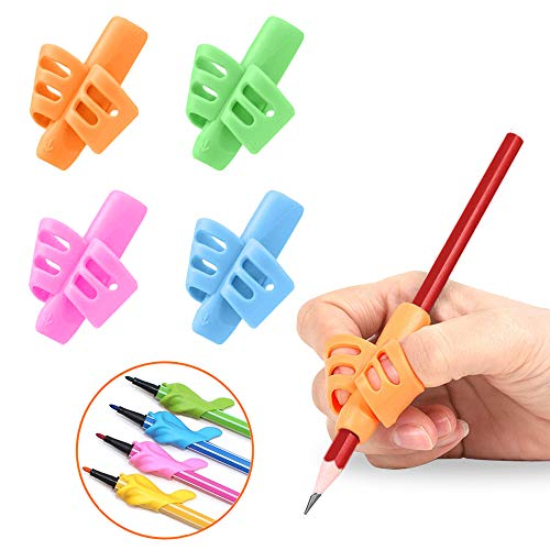 Pencil Grips - Pencil Grips for Kids Handwriting, Writing Aid Grip Trainer, Finger Grip Posture Correction Tool for Children Preschoolers 8 Pack