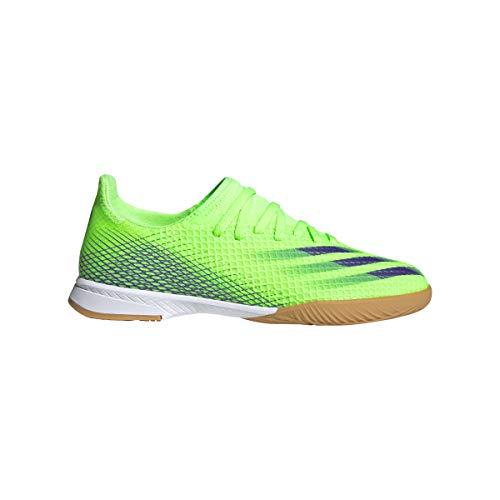 adidas X Ghosted.3 IN Niño, Zapatilla de fútbol Sala, Signal Green-Energy Ink-White, Talla 5.5 UK (38 2/3 EU)