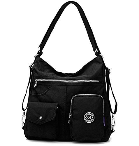 Travistar Nylon Waterproof Women Shoulder Bag Fashion Backpack Women Handbag Multifunctional Bag for Office or Daily Life