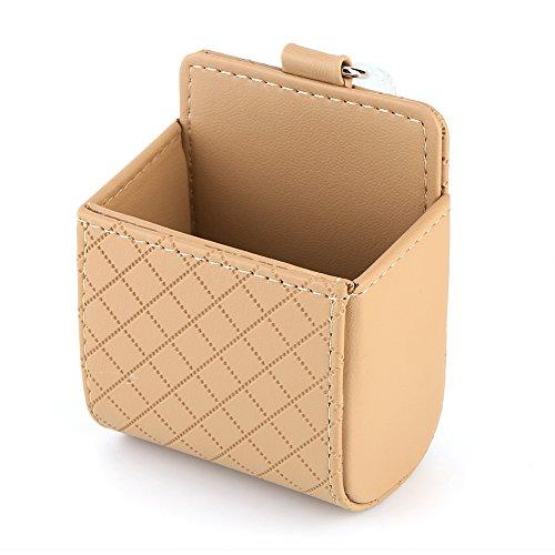 Auto Air Vent Organizer, Auto Universal Aufbewahrungstasche Tasche Telefon Mod Sun Glass Box Holder Taschenorganisator Beige