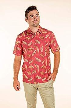 Iowa State Cyclones Hawaiian Shirt - Medium - Cardinal