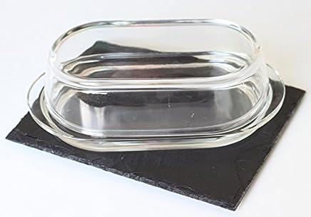 Preisvergleich für Natur Schiefer 20x15cm 4 STK Schieferplatten | behauen Kante |versiegln mit Lebensmitte in Deutschland | Gummifüße als Möbelschutz | Personalisierbar Gravur (aufpreis)