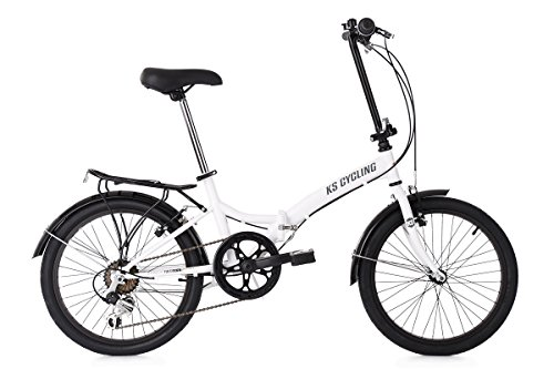 KS Cycling 521C Vélo Pliant Mixte Adulte, Blanc