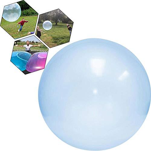 Gcroet Wasserblase Ball Super Wubble Blase Ball Transparente Strand Wasserball Weiche Wiederverwendbare Wasserballons Outdoor-Party Strandball Spielzeug für Erwachsene Kinder Blau