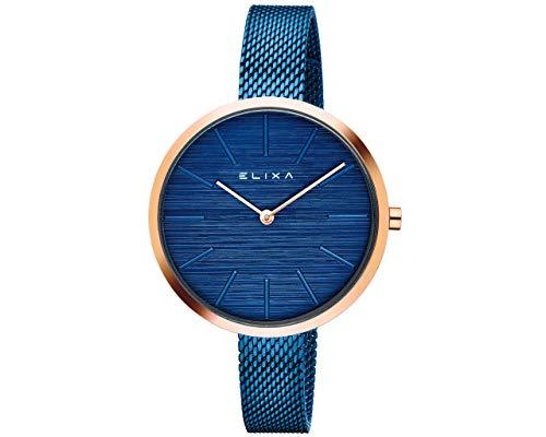 Reloj Elixa Finnes 36mm en Acero Azul. E127-L528