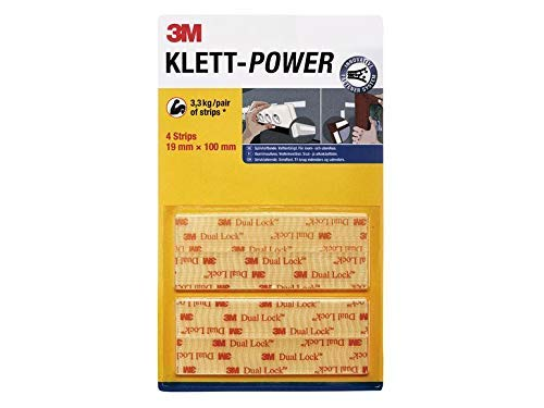 Klett Power selbstklebend, wasserfest, Streifen für Innen und Außen, 10x stärker belastbar