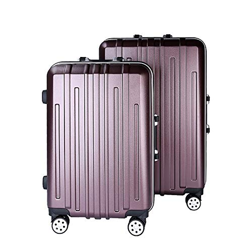 Mode Ontwerp 22 in 26 in 2 Stuk Geneste Bagage Set Spinner Travel Bagage Trolley Cases koffer Hardshell Lichtgewicht Draagbare Staand koffer 360° Stille Spinner Multidirectionele Wielen Vliegtuig