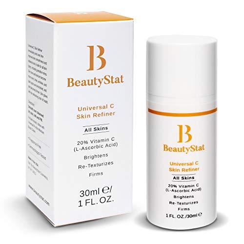 BeautyStat Universal C Skin Refiner - Serum for Face | 20% Pure L-Ascorbic Acid (Vitamin C)