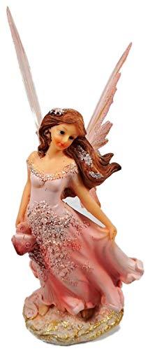 GIK 7725 A - Figura decorativa de hada con alas (22 x 8 cm), color rosa
