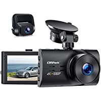 Campark Native 4K & 1080P Front and Rear Car Camera
