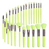 mlloaayo 25Pcs / Set Kit de Pinceles de Maquillaje, Herramienta cosmética de Belleza para Base de Poder/Rubor/Sombra de Ojos/pestañas/Cejas/Corrector/Labios/Ojos