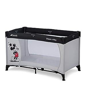 Hauck Disney Cuna de Viaje Dream N Play, para Bebes y Niños de Nacimiento hasta 15 kg, 120 x 60 cm, Plegable, Compacta, Ligera, Incluido Bolsa de Transporte, Mickey Mouse, Gris