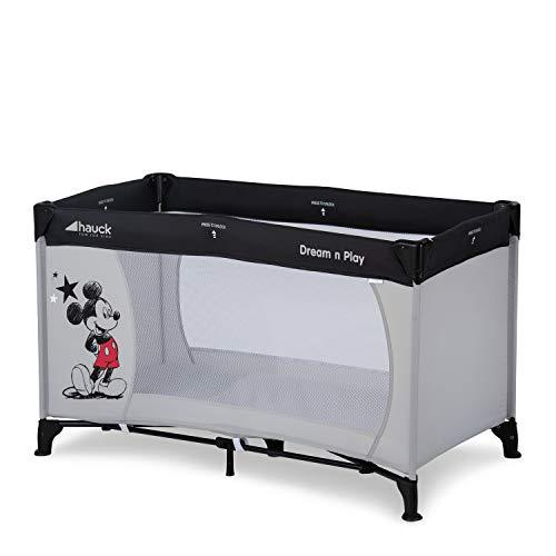Hauck Dream N Play - Cuna de viaje 3 piezas 120 x 60cm, bebe, incluido colchóncito y bolsa de transporte, de 0+ meses hasta 15 kg, plegado y montaje fácil, ligera y estable,