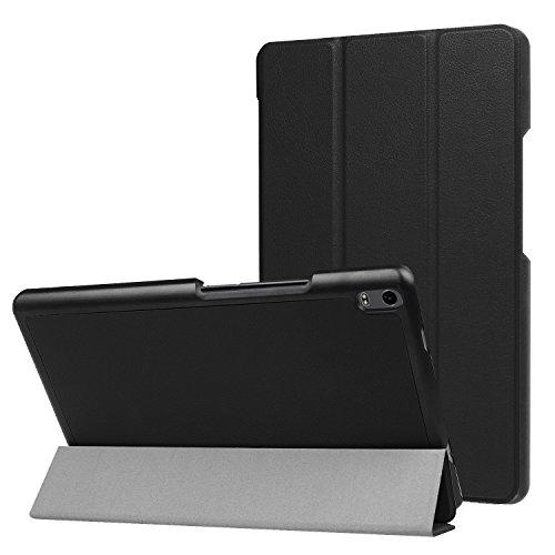 Schutz Hülle für Lenovo Tab4 8 Plus 8.0 Zoll TB-8704F Ultra Slim Cover Hardcase aufstellbar Wake und Sleep Funktion + GRATIS Stylus Touch Pen