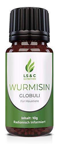 LS&C Nutrition | Wurmisin Globuli, Wurmkur | für Hunde und Katzen | radionisch informiert | 10g