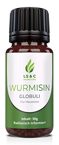 LS&C Nutrition Wormisin Globules, Worm Treatment, for Dogs and Cats, Radionically Informed, 10 g