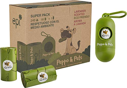 Peppo and Pets - Bolsas resistentes Biodegradables+ 1 dispensador