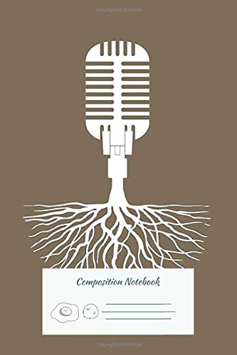 Composition Notebook: Musical Roots Microphone 102 Pages   College Ruled Composition Notebook