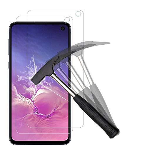 ANEWSIR [2 Pièces Verre Trempé Compatible avec Samsung Galaxy S10E, Galaxy S10E Protection Ecran Vitre 9H Dureté, Installation Simple sans Bulles, Anti Rayures, Protecteur d'écran pour Samsung S10E
