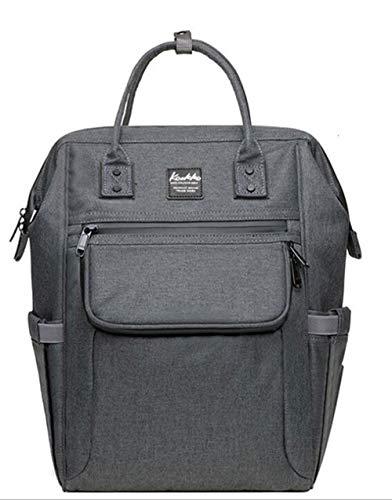Etyybb Bolsa para cambiar pañales para bebés, mochila para pañales mejorada con bolsillos impermeables con aislamiento de gran capacidad-grey_L