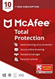McAfee Total Protection 2020 Antivirus Internet Security Software, 10 Device Password Manager, Parental Control, Privacy, 1 Year - Key Card
