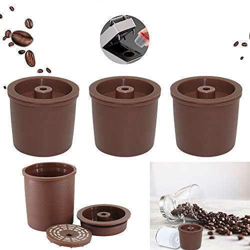 Konesky Cápsulas de Café Reutilizable, 3 piezas Cafetera Illy Goteador de Filtro de Café Reutilizable sin BPA Compatible con illy y3, x8, y5 milk, y1.1, y5, x7.1, x9