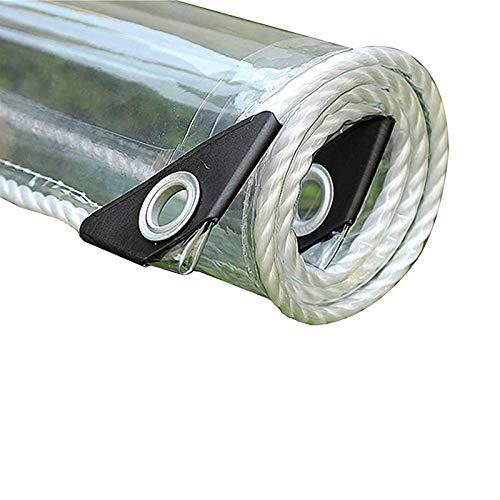 YUJ1ANHUAA Lona Transparente Impermeable con Ojales,Material de PVC Plegable,Tela de Plástico,para Balcón o Ventana,Toldo de Invernadero,Coverup para Uso en Exteriores,400g/? (2.3x4m/7.5x13.1ft)