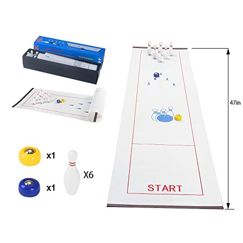 Cheapest Price! TOCO FREIDO Table Top Bowling Game for Kids and Adult, Funny Game for Family and Fri...