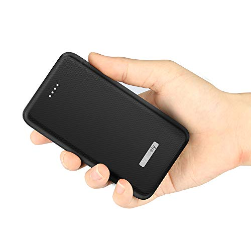 Vancely Power Bank 20000mAh, Caricabatterie Portatile 2 USB Porte, Batteria Esterna per iPhone, iPad, Samsung, Huawei,Tablet-Nero