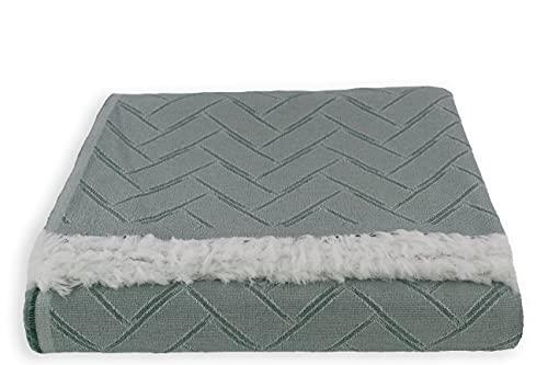 Colcha Multiusos para Sofá, Manta Foulard Cubrecama, Plaid para Cama Cómoda y Suave. (Menta, 180x290 cm)