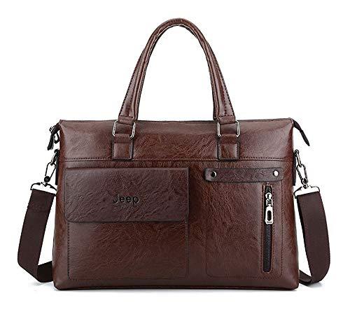 Bolso de Mano para Hombre, Bolso de Negocios, Bolso de Hombro Diagonal (Color: marrón)
