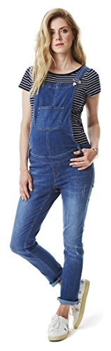 Esprit Maternity Damen Dungaree Denim Boyfriend Umstandsoverall, Blau (Medium Wash 960), 42