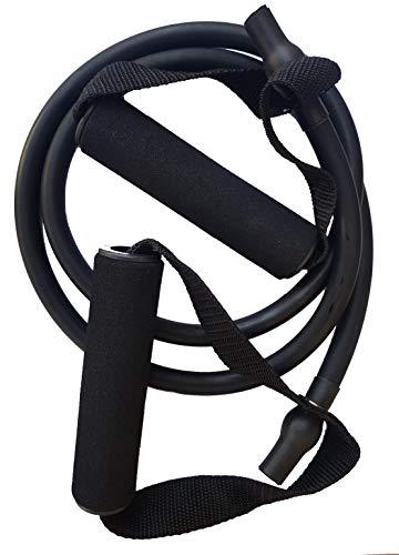 SWIMXWIN Elastisches Tubular mit Griffen zum Trockentraining, Schwimmen, Fitnessstudio, Schwarz