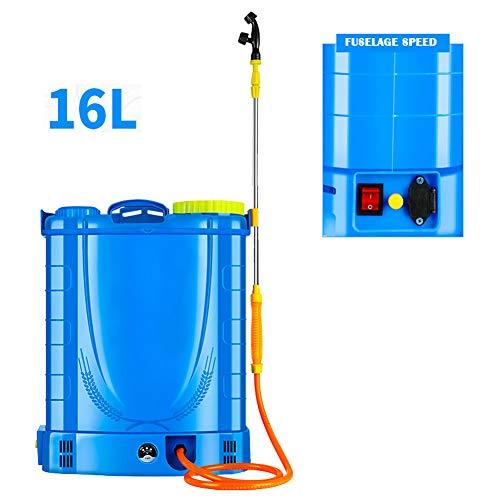 JTYDFG Mochila Pulverizador, Ressure Sprayer Knapsack fumigador de jardín Pesticidas eléctricos 16L / 18L 20L Pulverizador de presión eléctrico para jardinería Jardín de césped Granja (Azul)
