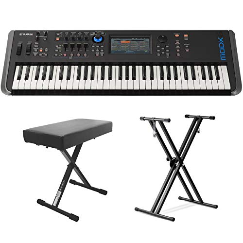 Best Buy! Yamaha MODX6 61-Key Synthesizer (With Keyboard Stand & Bench)