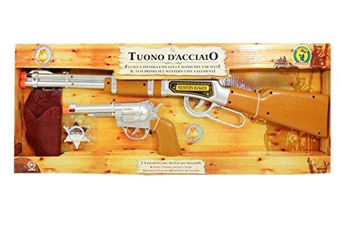 Mazzeo Giocattoli Gioco Western Fucile e Pistola