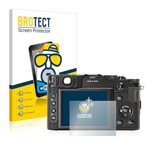 BROTECT 2X Entspiegelungs-Schutzfolie kompatibel mit Fujifilm X10 Bildschirmschutz-Folie Matt, Anti-Reflex, Anti-Fingerprint
