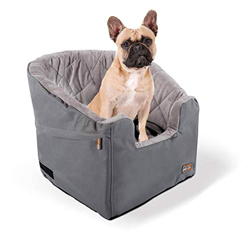 K&H Pet Products Bucket Booster Dog Car Seat Small Gray 14.5″ x 20″
