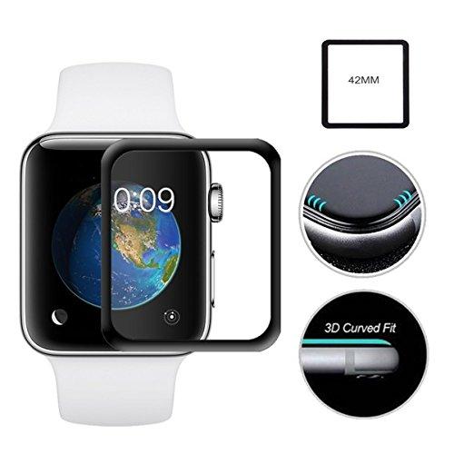 WiTa-Store, protezione in vetro temprato 9H, per Apple Watch, 38 mm, trasparente, senza bolle
