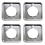 KITCHEN BASICS 101 SGP-400 Replacement Chrome Square Gas Range Pans for 786333, AP6011553 and...