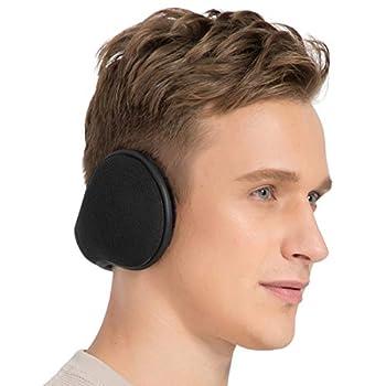 TALONITE Winter Ear Muffs for Men & Women Foldable Fleece Ear Warmers - Pefer for Outdoor Skiing - Behind the Head Earmuffs