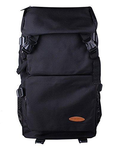 (ユーオンボックス) Uonbox リュックサック ナイロン 男女兼用 旅行 登山 大容量 アウトドア バックパック ブラック