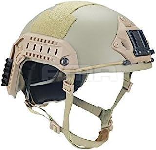 H World Shopping Adjustable Maritime 10 Level of Kevlar Fibre Protective Helmet Tan DE