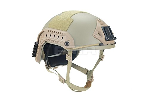 Adjustable Maritime 10 Level of Kevlar Aramid Fibre Protective Helmet Tan DE M/L
