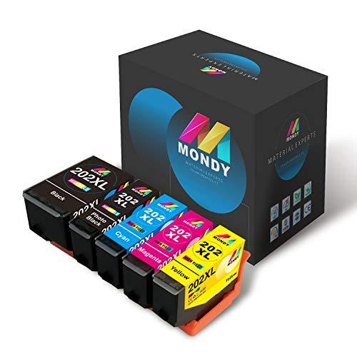 MONDY 202XL de Repuesto para Cartuchos de Tinta EP 202 XL Multipack compatibles con EP Expression Premium XP-6100 XP-6105 XP-6000 XP-6001 XP-6005