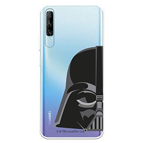 Funda para Huawei P Smart Pro - Honor 9X Pro Oficial de Star Wars Darth Vader Silueta Transparente para Proteger tu móvil. Carcasa para Huawei de Silicona Flexible con Licencia Oficial de Star Wars.